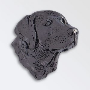 Pewter pin badge boxed - Labrador head