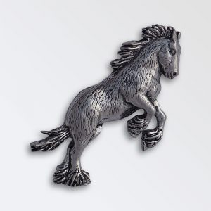 Pewter pin badge boxed - Heavy Horse