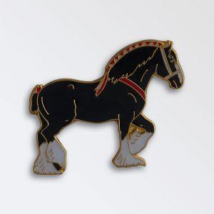 Enamel Pin badge boxed - Shire Mare Black