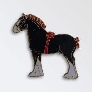 Enamel Pin badge boxed - Clydesdale Stallion Black