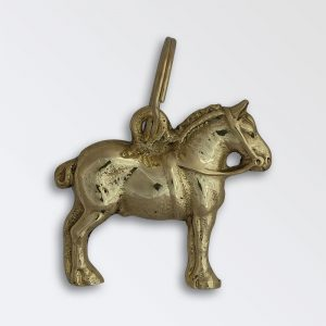 Solid brass key ring - Suffolk Stallion