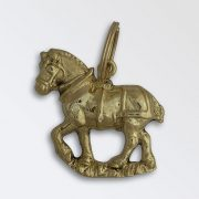 Solid brass key ring - Suffolk in Cat Harness