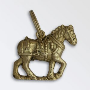 Solid brass key ring - Decorated Harness