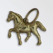 Solid brass key ring - Welsh Cob