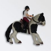 Papo - Black and White Horse with rider