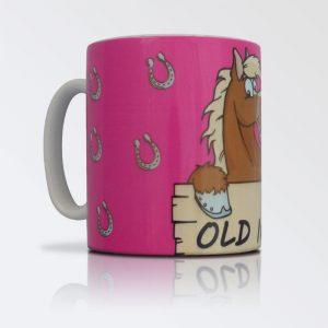 Old Nag pink mug