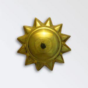 Brass Harness Decoration - Bull Star