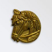 Brass Harness Decoration - Horse Head Left