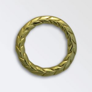 Laurel cast brass decoration
