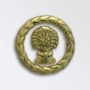 Laurel with wheatsheaf cast decoration