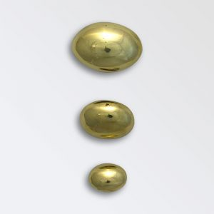 Egg Ovals with Shanks cast brass harness decoration