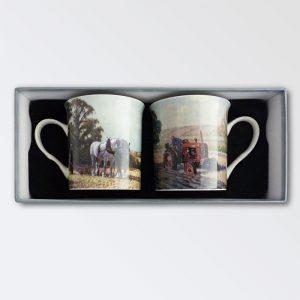 Country Life Porcelain Mugs