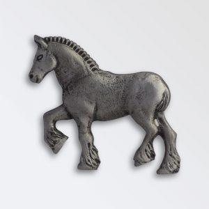 Pewter Heavy Horse Key Ring