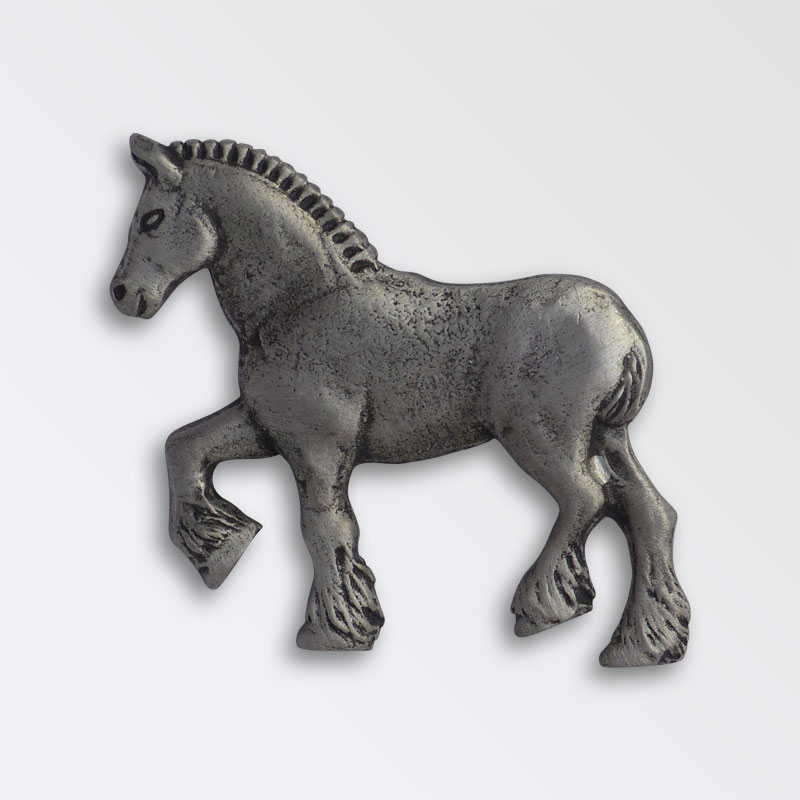 Pewter Heavy Horse Shire Horse Pin Badge
